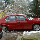 33ka z letnimi gumami na malo lepših platiščih. sneg je malo pokvaril zabavo :(
