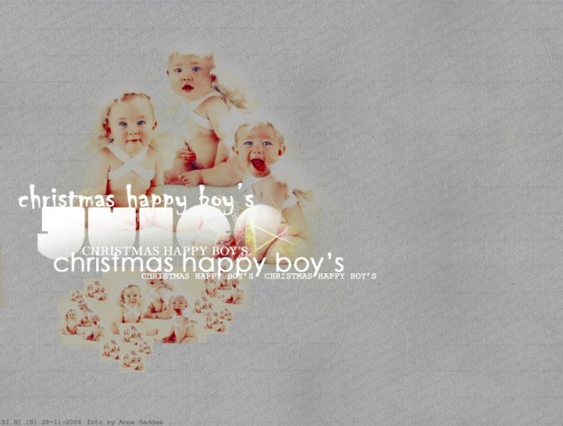 Christmas happy boy's