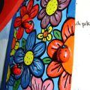 BojaMoja za NaDy - čestitka: mekol in akrilne barve