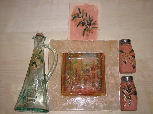 VESOLJČICA ZA MICO (solnica, poprnica, kroznik, steklenica za olje/kis in voščilnica)