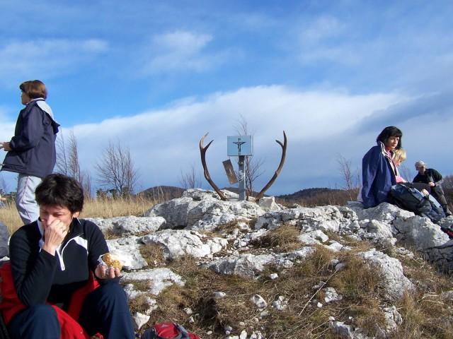 ... vrh je naš, le kateri jelen je tu pustil svoje okrasje