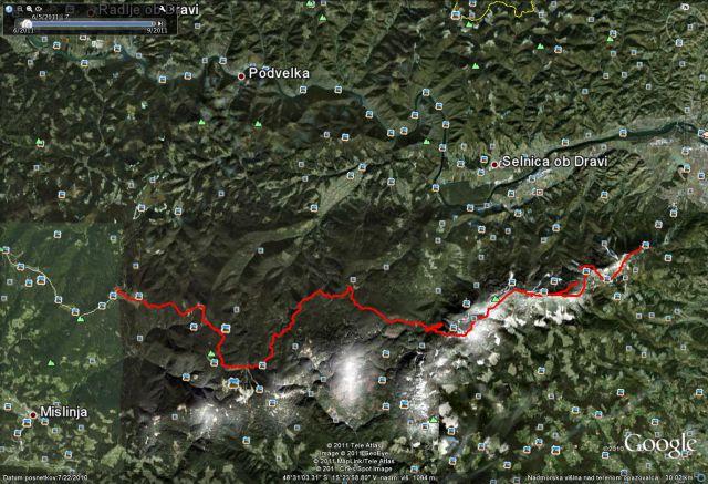 Miranov GPS zapis celotne poti