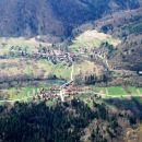 Pogled na slovenski in hvraški del Kužlja