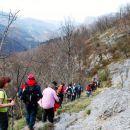 Hud spust v dolino po dolomitskih poteh