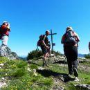 Prvi pohodniki na vrhu Mavrinca