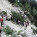 Začetek Pastirske poti je zahteval malce previdnosti in spretnosti