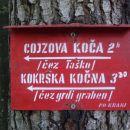 Za pot navzgor smo izbrali pot čez Taško