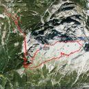 Takole je Miranov GPS videl našo opravljeno pot