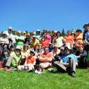 Skupinska na planini Seča pred vzponom na Veliki vrh (Struška)