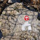 Oznaka, ki nas je spremljala na naši poti