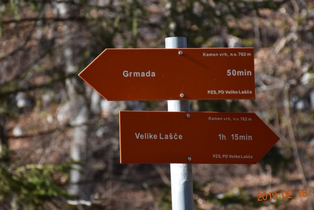 Kamni vrh in Grmada 16. 2. 2019 - foto