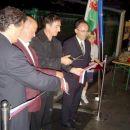 rezanje traku: (z leve) Marjan Vengust - CMC, Jože Korže - podžupan, Štefan Tisel - župan,