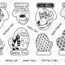 WHIMSY STAMPS - COZY HANDS SENTIMENTS 8€ + PTT