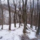 ...spust v dolino po grebenu...