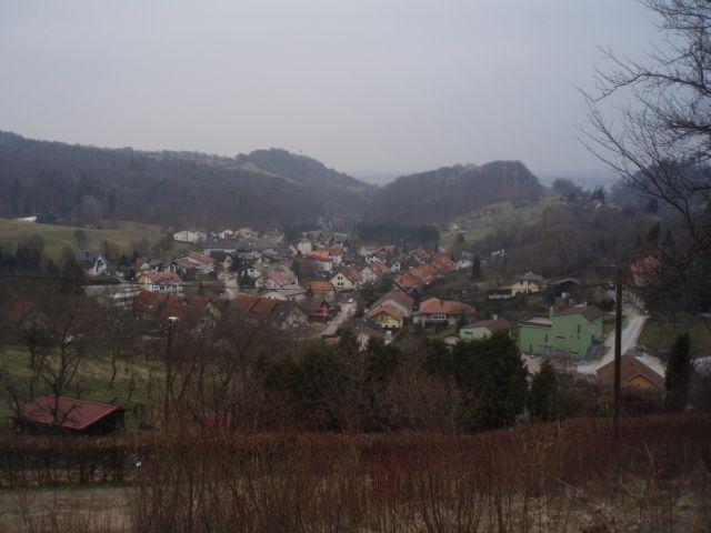 ...pogled na naselje Ribniško selo...