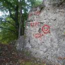 ...in to pod skalo z napisom...