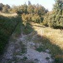 ...spust po travniku pred vstopom...