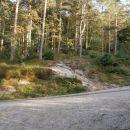 ...prečenje ceste do planinskega doma na Boču...