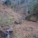 ...struga Velikega potoka desno...
