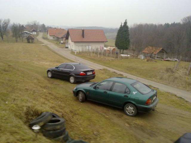 Glih pripeljal BMW-ja domov