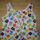 Obleka, oblekca Next št. 116 z rožicami, bombaž, lepo ohranjena, 4 eur