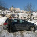 Parkirava kr v Puštalu, mrzlo, -8