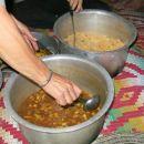 klasika: mušekl (zelenjavni poc), riž in kos ribe