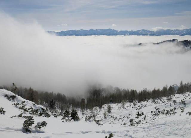 Viševnik nad meglo,  12.02.2017 - foto