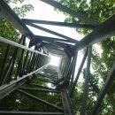 vrh skozi razgledni stolp