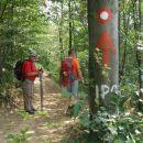 lepo smo jo vandrali po gozdu