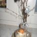 Dekoracija na brezovem deblu