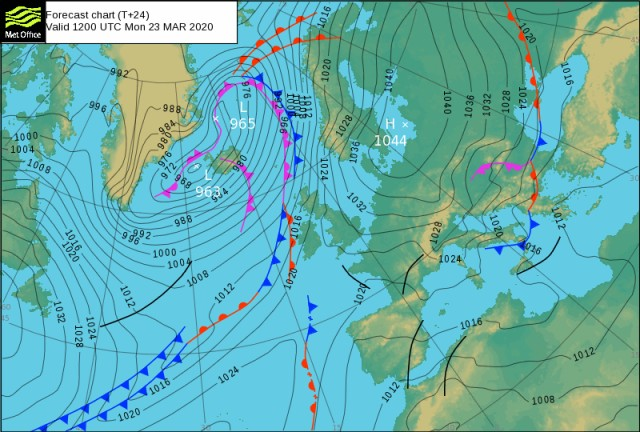 Forecast Valid 20200323 1200 UTC (+24h)