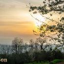 Sončni zahod, pogled proti Kopru.