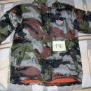 f. vojaška bunda, podložena s flisom, brez kapuce št.116, 9€