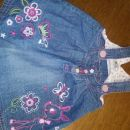 oblekica tenek jeans št. 80 1 eur