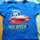 Kratka majica Mcqueen, št. 110, potisk nič popokan, 2€