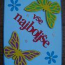 Rojstno dnevna voščilnica - metuljčki