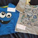 Modra majica št.86/92 in siva št.86, cena 3€/kom.