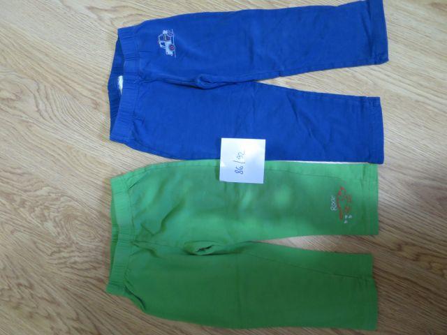 2x bombažne hlače
