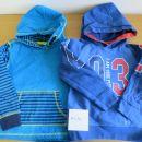 2x topel pulover s kapuco št. 110/116, cena 5€