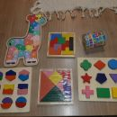 Komplet lesenih didakticnih iger - 15eur
