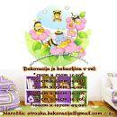 Otroške stenske nalepke , otroška dekoracija, nalepke za otroke čebelice