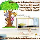 Otroške stenske nalepke , otroška dekoracija, nalepke za otroke drevo z živalmi