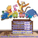 Otroške stenske nalepke , otroška dekoracija, nalepke za otroke medo pu s prijatelji