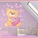Otroške stenske nalepke , otroška dekoracija, nalepke za otroke medvedek s srčkom