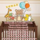 Otroške stenske nalepke , otroška dekoracija, nalepke za otroke medvedek z balonom
