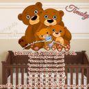 Otroške stenske nalepke , otroška dekoracija, nalepke za otroke medvedki
