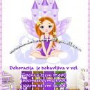 Otroške stenske nalepke , otroška dekoracija, nalepke za otroke princesa z gradom