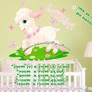 Otroške stenske nalepke , otroška dekoracija, nalepke za otroke ovca