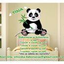 Otroške stenske nalepke , otroška dekoracija, nalepke za otroke panda z vejico